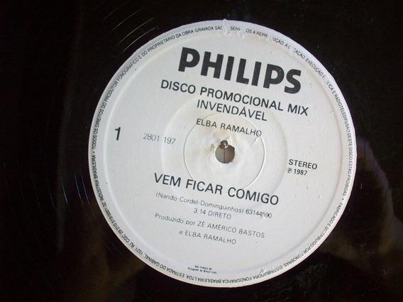 Single Vinil Disco Elba Ramalho - Vem Ficar Comigo -folia Br