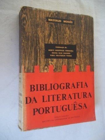* Livro Bibliografia Da Literatura Portuguêsa Massaud Moises