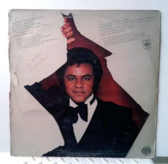 Vinil Lp - Johnny Mathis - Hold Me, Thrillme, Kiss Me
