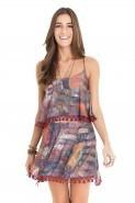Vestido Decote Costas Est. Patch Dress To