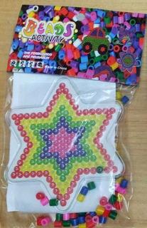 Beads Tipo Pixi Estrella Multicolor Canutillos Hama Plancha