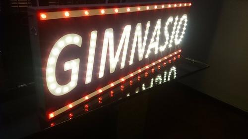 Carteles Led Gimnasio  1x0,5 M - Luminosos - Simple Faz