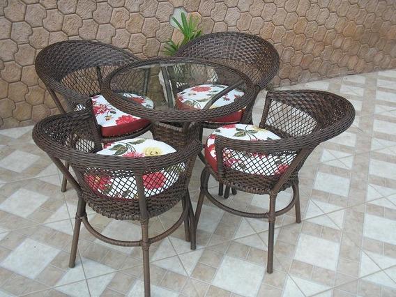 Jogo De Mesa Hotel C/ 4 Cadeiras