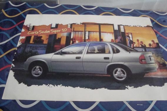 Poster Cartaz Foto Catalogo Chevrolet Corsa Sedan Super 1.0