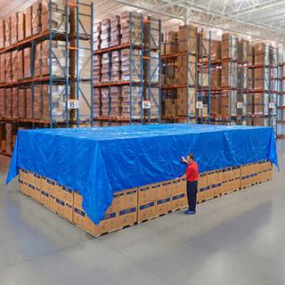 Lona Azul Estandar De 9.14 Mt X 12.19 Mt