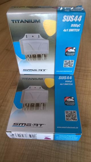 Chave Diseqc Smart Titanium 4x1 Sus44 Importada Alemã!