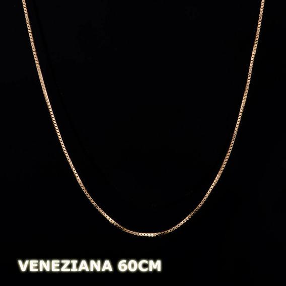 Veneziana - Corrente Em Ouro 18k - 750 - 1,20grs - 60cm