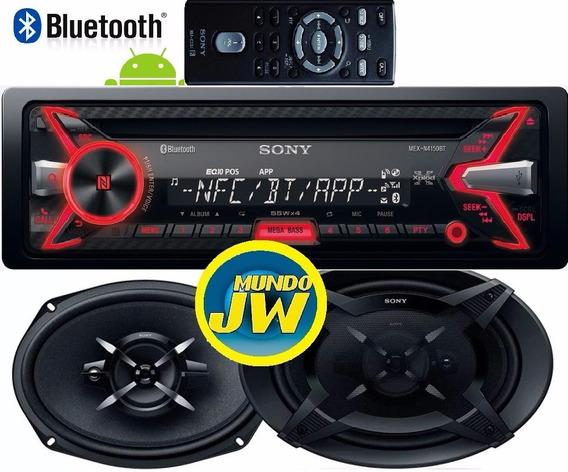 Autoestereo Sony Bluetooth 4200 + Parlantes Sony 6x9 Nuevo