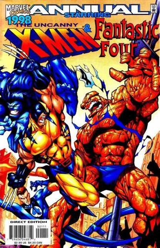 Uncanny X-men / Fantastic Four Annual 1998 - Comic En Ingles