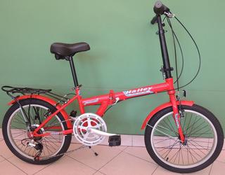 Bicicleta Plegable Halley Binplegn Rodado 20 6 Velocidades