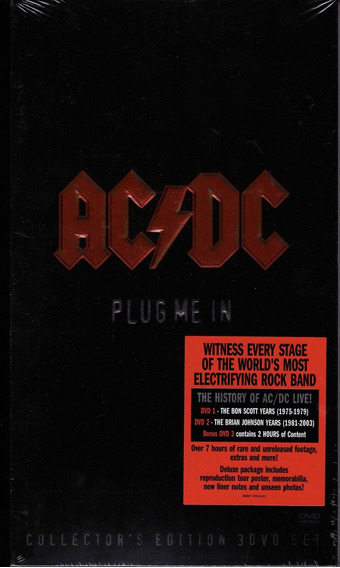 Dvd Ac/dc Plug Me In (duplo+livro) (import) Novo Lacrado