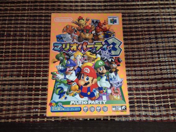 Mario Party 3 N64 Original Completa Japonês (linda)