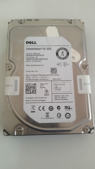 Hd Dell 2tb Sas 6g 7.2k 3,5 9st248-251 St32000445ss 0w350k