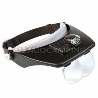 Lupa Vincha Luz Led 4 Lentes Intercambiables Mg81001 A