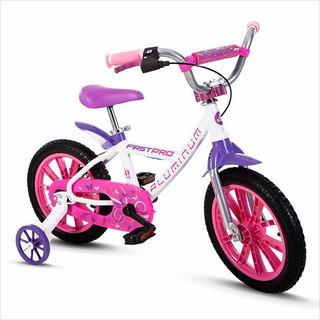 Bicicleta Infantil Feminina Nathor Aro 14 First Pro - Branco