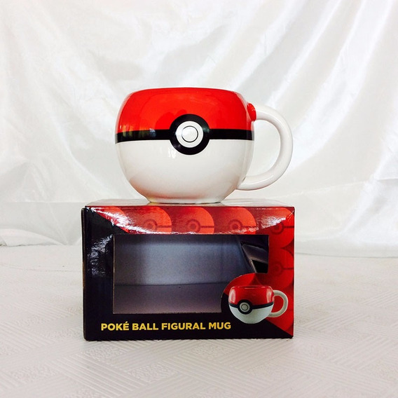 Caneca Pokebola Pokemon. - Pronta Entrega