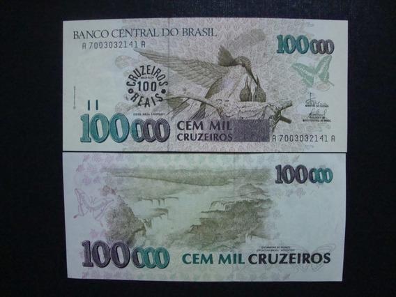 C235 - Cédula 100 Cruzeiros Reais 1993 - Flor De Estampa