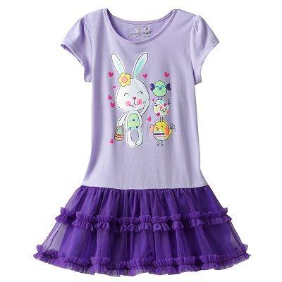 Bellos Vestido Para Niña Con Tutu Y Conejito Talla 5