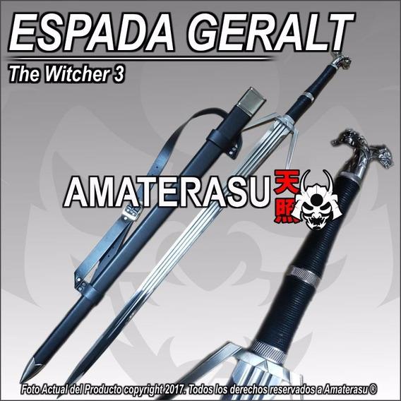 Espada De Plata Geralt De Rivia The Witcher 3 Con Vaina