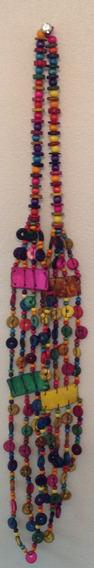 Colar Feminino De Sementes Coloridas - C.579