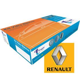 Kit Vidro Elétrico Renault Novo Clio 2p 13 14 15 Rnse009