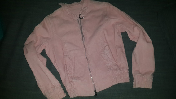 Campera Bomber Corderoy Rosa Mujer Talle 1