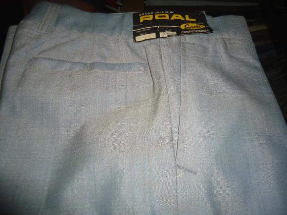 Pantalon De Vestir Creación Roal Sport Color Gris Talle 38