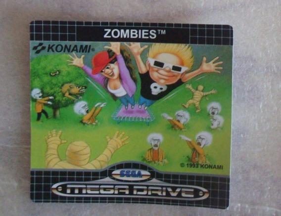 Label Fromtal Do Jogo Zombies Mega Drive Sega Game Genesis