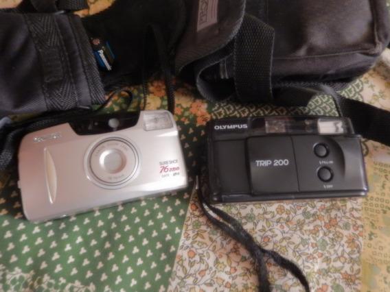 02 Máquinas Fotográficas Antigas Canon E Olympus -