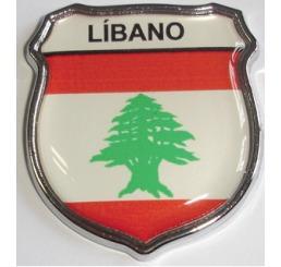 Emblema Líbano Escudo Resinado E Cromado