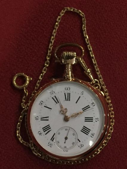 Relógio Bolso Ouro 18k, Breguet C/chantelaine Ouro 18k