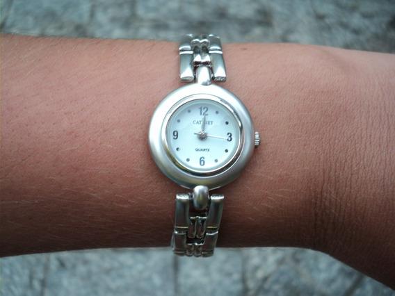 Relógio Analógico Importado Quartz Pulseira Prata Delicado 1