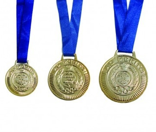 240 Un Medalha Rema Ouro/prata/bronze 50mm Com Fita E Adesiv