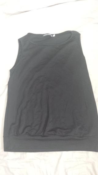 Camiseta Blusa Regata Preta M Rouparia Montag Blusê Nova