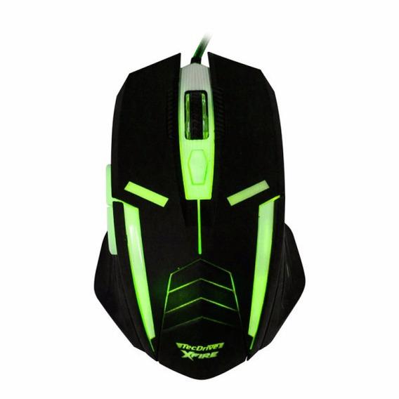 Mouse Gamer Tecdrive Xfire Shinigami 3200 Dpi 7 Botões Verde