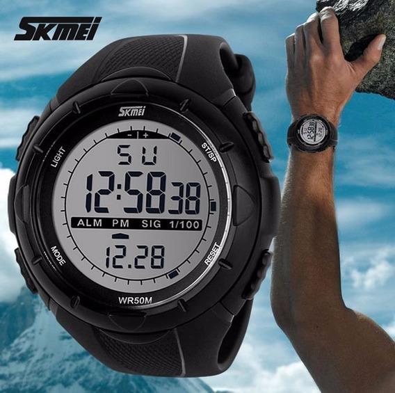 Relógio Digital Esporte Skmei 1025 Original Preto/titanium