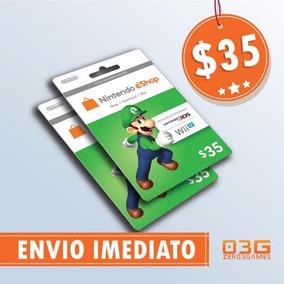 Cartão Nintendo Switch 3ds Wii U Eshop Card $35 Imediato!