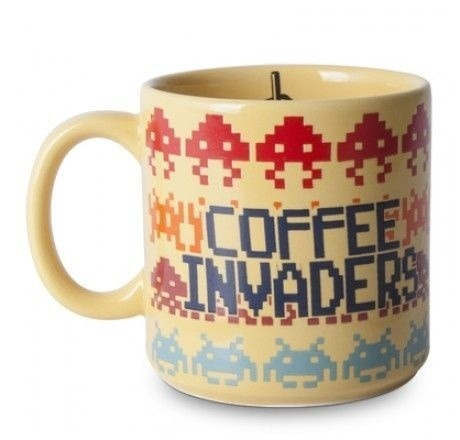 Caneca Porcelana Space Invaders. Geek!