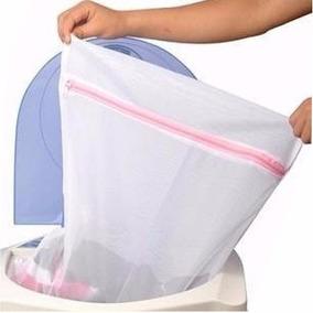 Sacos De Lavar Roupas Finas Kit Com 5 - Tamanho G 60x50