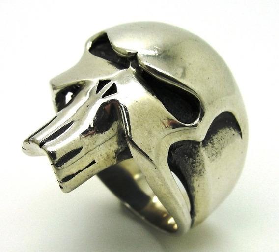 Anel Prata De Lei 950 Caveira Skull Phanton Fantasma