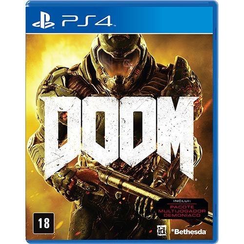 Doom (mídia Física 100% Em Pt-br) - Ps4 (novo)