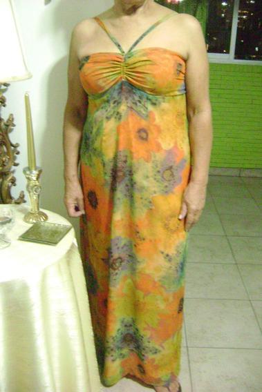 Vestido Estampado De Dama Talla S