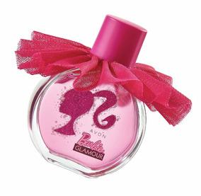 Perfume Colônia Barbie Glamour Avon 50ml Acompanha Brinde
