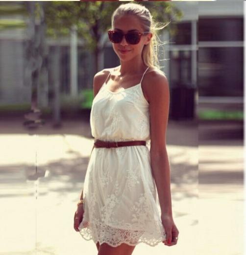 Vestido Encaje Mujer Importado Blanco Fiesta Sexy Exclusivo