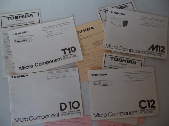 Toshiba Micro Component T10 -c12 - M12 - D10 Manuais Origin