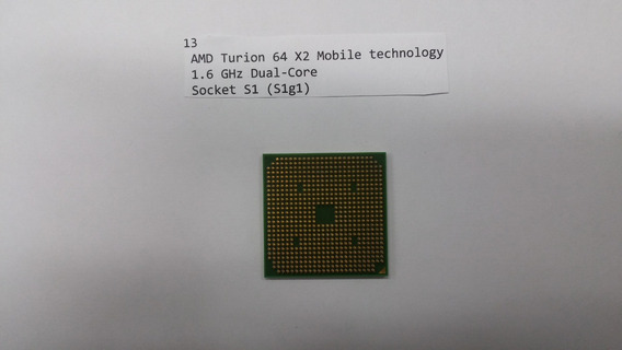 Amd Turion 64x2 Mobile Technology 1.60 Ghz Dual-core Socket