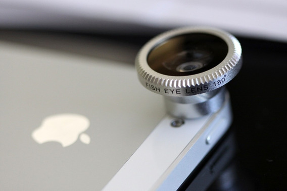 Lente Fisheye 180º Olho De Peixe iPhone iPad S4 S5 Cameras