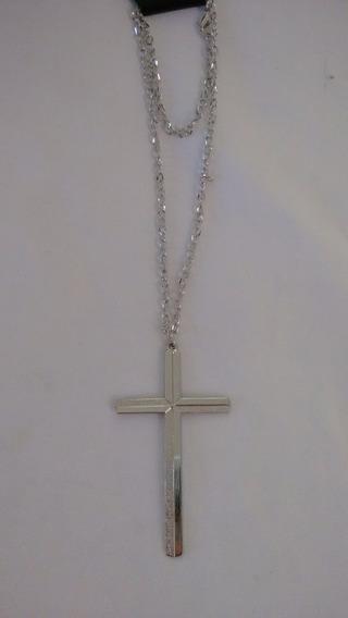 Corrente Colar Crucifixo Em Aço Inox