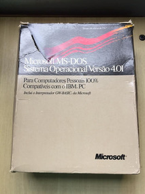 Microsoft Dos 4.101 Na Caixa Todos Os Discos E Manuais