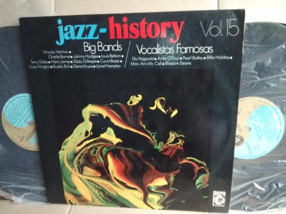 Lp Jazz History Vol. 15 Big Bands & Vocalistas Famosas Duplo